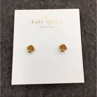 Kate Spade Logo Stud Earrings 經典標誌金色耳環