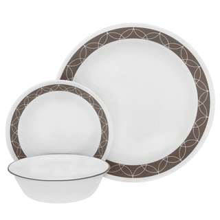 P.O. - Corelle glass dinnerware 18pcs sand sketch