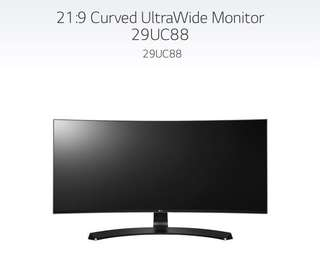 "LG 29"" Ultrawide Curved Monitor"