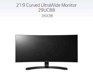 "LG 29"" Ultrawide Curved Monitor"