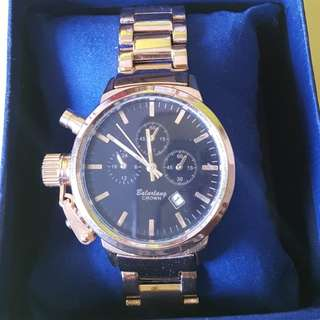 Classic Gold & Black Watch