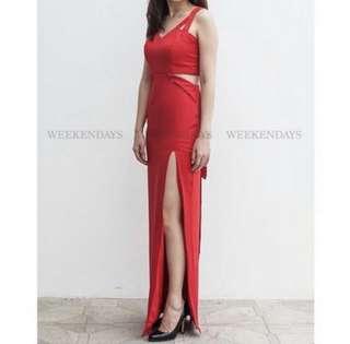 Long Dress Merah Baju Pesta