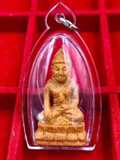 Lp Sin Super Rare And Special 90th BIRTHDAY BATCH Hand Carved Phayung Wood(Siamese Wood) Phra Kring(Medicine Buddha) BE2561(C.E2018)