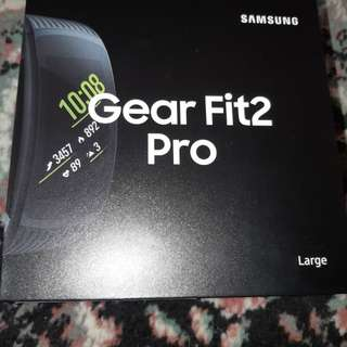 Samsung gear 2 fit pro large Black baru