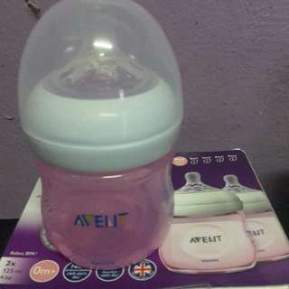 Philips Avent Natural 4oz Pink Bottle