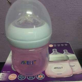 Philips Avent Natural 4oz Pink Bottle