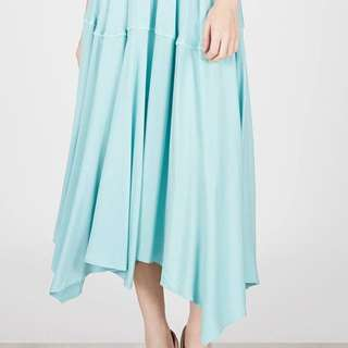 3 seconds maxi asymetric skirt