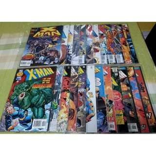 X-Man Comics 1995-1997 24 Issues 2-8, 14-17, 19-24, 26-31 (NEAREST MRT)