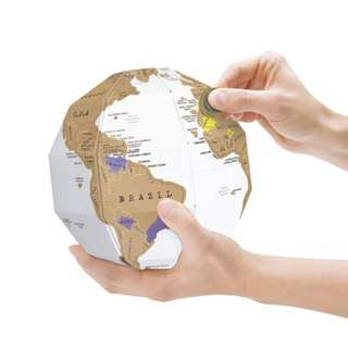 3D Globe Model With Scratch World Map
