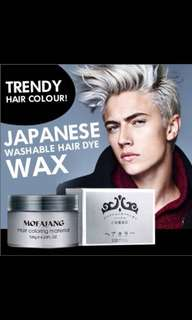 Ash Grey Hair Wax from Japan