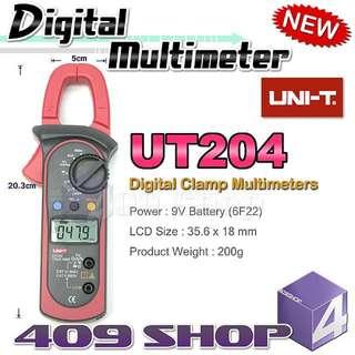 1 x UNI-T UT204 數字鉗形萬用表