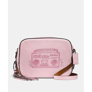 Authentic Coach X Keith Haring Camera Bag Ice Pink / Sky Blue