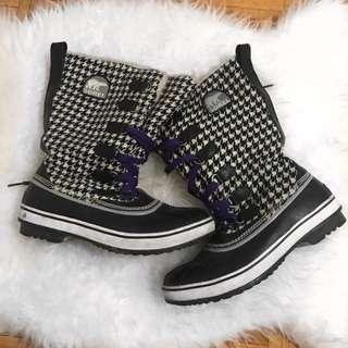 Sorel Black & White Winter Snow Boots
