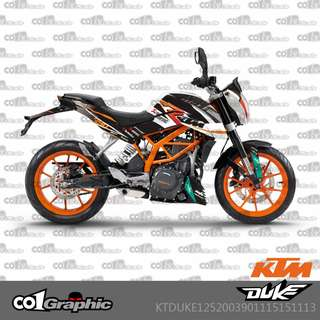KTM Duke 125 200 390 fairings coverset sticker 2