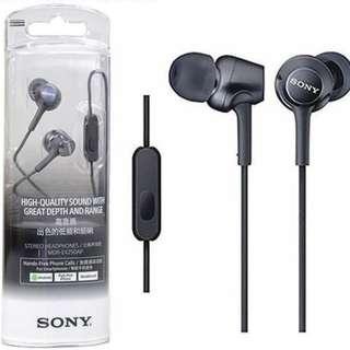 Sony Stero Headphones [MDR-EX250AP] - BLACK