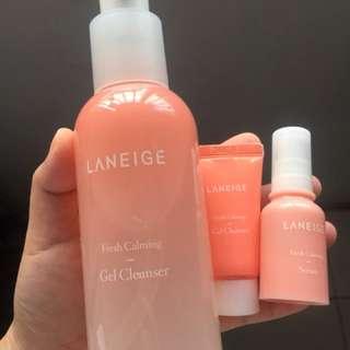 Laneige Fresh Claming Gel Cleanser ( Bonus Trial Kil Cleanser + Serum )