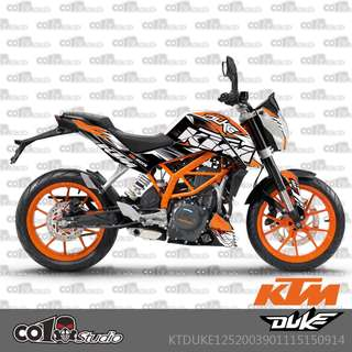 KTM Duke 125 200 390 fairings coverset sticker 3