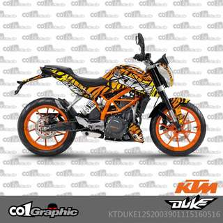 KTM Duke 125 200 390 fairings coverset sticker 4