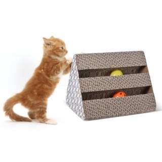 Cat Kitty Scratching Board Cardboard Scratcher Lounge Toys