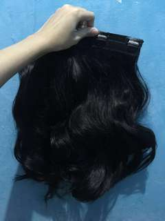Hair clip big layer human hair