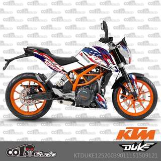 KTM Duke 125 200 390 fairings coverset sticker 5