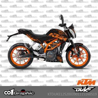 KTM Duke 125 200 390 fairings coverset sticker 6