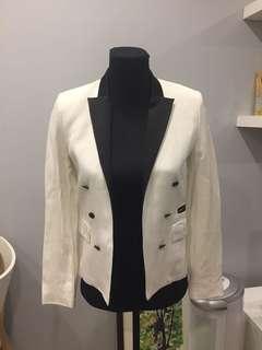 Mango white blazer