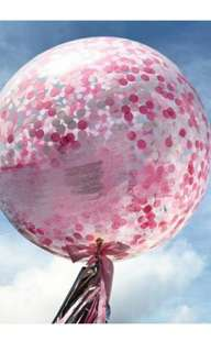 Birthday / event Balloon with confettis - 24 inch
