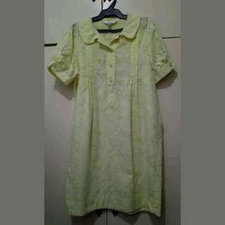 WA416 Etam Yellow Korean Smart Casual Dress (see pics for Measurements)