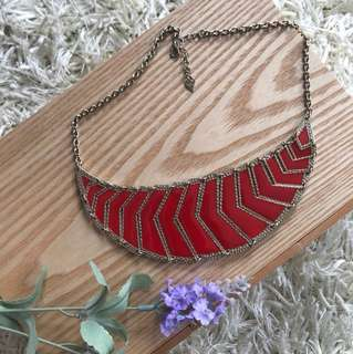 Beautiful red gold necklace