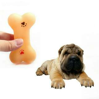Pet Dog Plastic Toys Rubber Resistant To Bite Bone