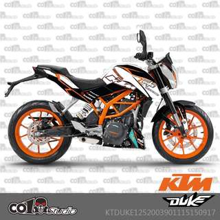 KTM Duke 125 200 390 fairings coverset sticker 7
