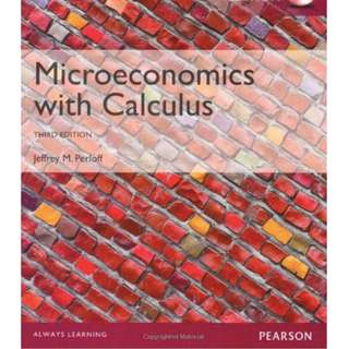 Microeconomics with Calculus by Jeffrey M Perloff (Third Edition) E-version