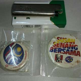 Button badge 50 tahun merdeka
