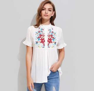 INSTOCK #DH3652 Embroidery Top
