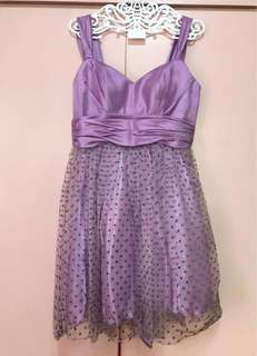 Purple PolkaDot Cocktail Dress