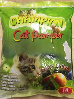 Pets' Gantry-New! Champion Cat Pamper 10L Cat Sand!