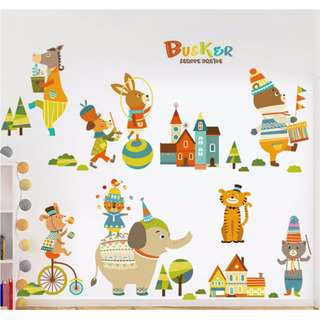 Buskers Wall Sticker/ Decal/ Wallpaper/ Kids/ Children/ Nursery/ Bedroom/ Living/ Wall Decal/ Sticker/ Mural/ Home/ Birthday/ Party Decor/ Backdrop/ Centrepiece/ Props/ Accessories/ Removable