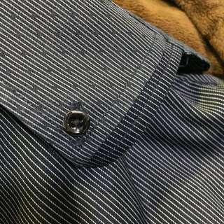 Fleece lining Winter Business Shirt 1