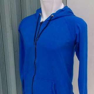 Sweater zipper hoody L