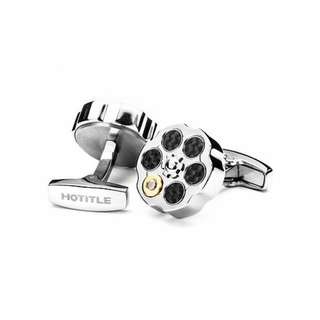 Bullet Roulette Cuff Link - Silver