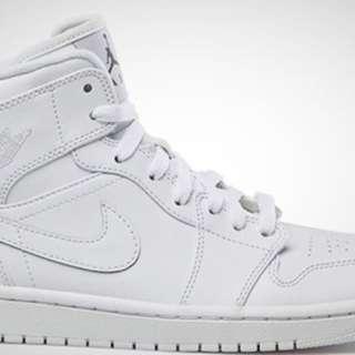 All white Jordan 1s (5.5Y)
