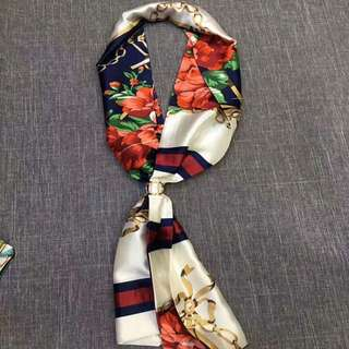Chic Floral Necktie with blue blazer