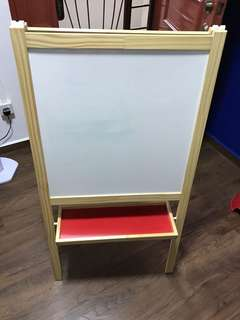 Ikea easel black and white board