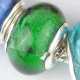 Green Bead Charm