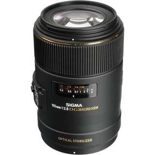 Sigma 105mm f/2.8 EX DG OS HSM Macro Lens (Nikon/ Canon)