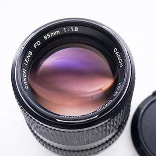 Canon 85mm f1.8 FDn manual focus lens