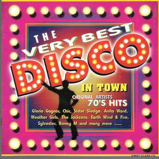 MY PRELOVED CD -THE VERY BEST DISCO IN TOWN -ORIGINAL ARTISTS 70s HITS / FREE DELIVERY (F3S)