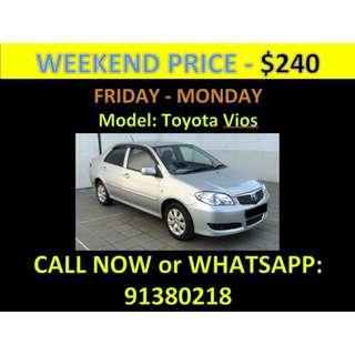 Toyota Vios Weekend Car Rental March