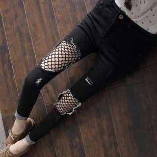 Fashion Black Ripped Jeans #MidSep50